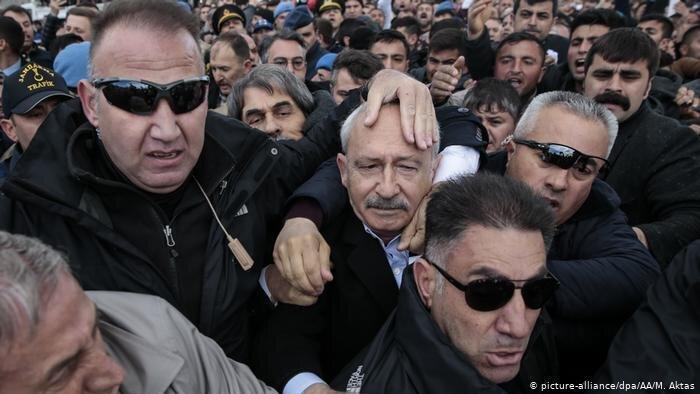 حمله به رهبر بزرگترین حزب اپوزیسیون ترکیه
