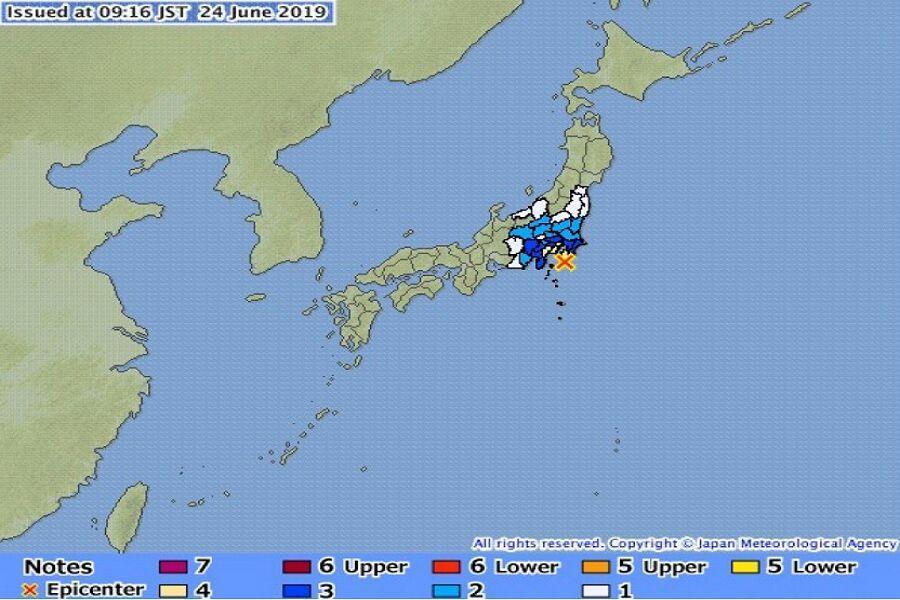 خبرنگاران زلزله 5.5 ریشتری توکیو را لرزاند