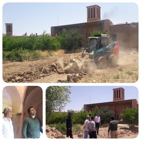 عملیات اجرایی کمپ بوم گردی جزین در بجستان شروع شد