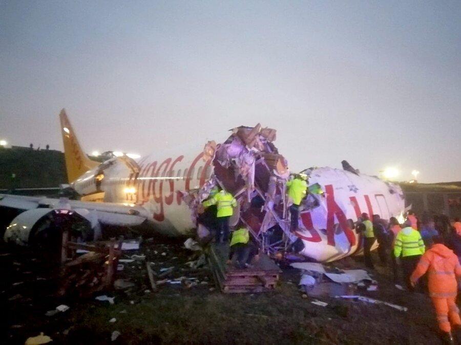3 کشته و 179 زخمی خاتمه کار هواپیمای خطوط پگاسوس در استانبول