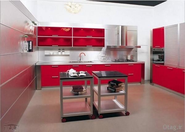 عکس و انواع طرح کابینت آشپزخانه mdf ، دکوراسیون ام دی اف شیک