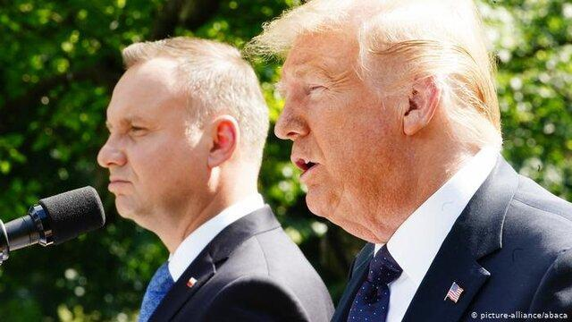 ترامپ: بخشی از نیروهای آمریکا به لهستان منتقل می شوند