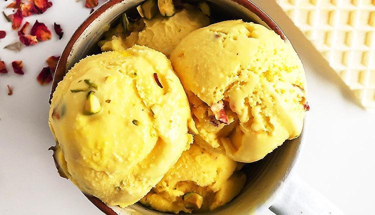 طرز تهیه بستنی سنتی زعفرانی خانگی، با ثعلب و بدون ثعلب