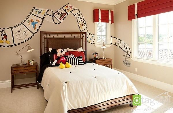 طراحی اتاق کودک با استفاده از شخصیت های کارتونی محبوب