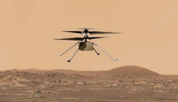 اولین پرواز بر سطح سیاره ای دیگر، هلی کوپتر نبوغ بر فراز مریخ به پرواز درآمد