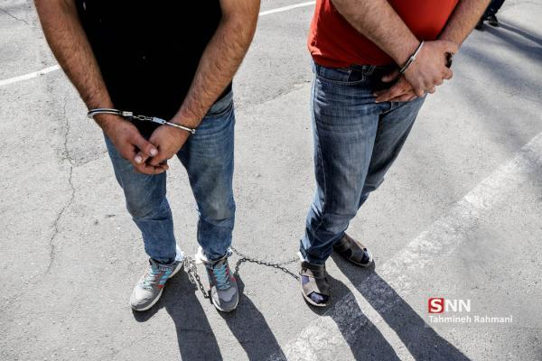 مردان مسلح نقابدار به دام پلیس افتادند