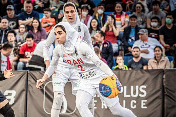 تیم بسکتبال سه نفره بانوان مقابل چین تایپه و ایتالیا باخت