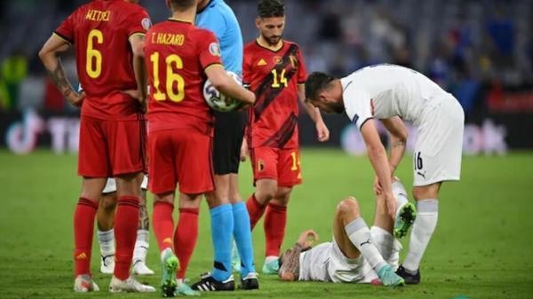 ستاره تیم ملی فوتبال ایتالیا مصدوم شد