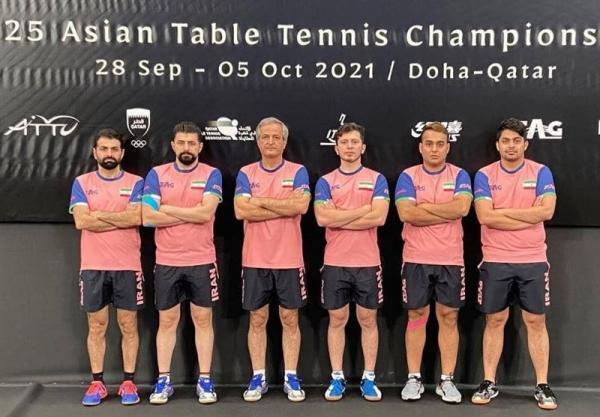تنیس روی میز قهرمانی آسیا، رویای تاریخ سازی تیم مردان ایران محقق نشد، هت تریک شکست برادران عالمیان